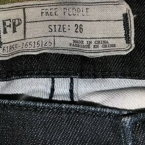 Free People Bali Flared jeans Floral Print  26 Blu